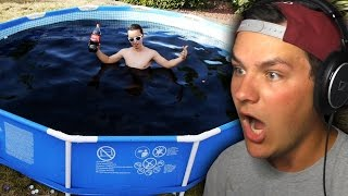 Download DUDE FILLS POOL WITH COCA-COLA! Video