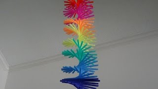 Download How to make drinking straw spiral hanging Video