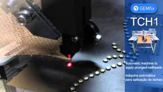 Download GEMfix TCH1 - Automatic machine to apply nailheads with prongs Video