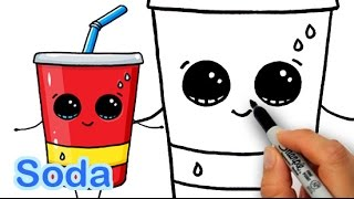 Download How to Draw Cute Cartoon Soda Cup Drink Step by Step Video