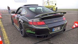 Download 980HP Porsche 996 Turbo by 61-Performance REVS & DRAG RACING! Video