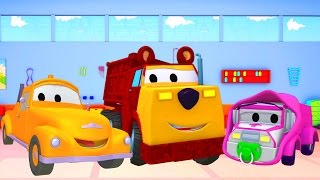 Download Tom The Tow Truck's Paint Shop: Baby Amber-Masha and Ethan the Bear 👶🐻 Truck cartoons for kids Video