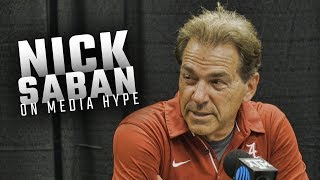 Download Nick Saban tells media they're feeding his team ″rat poison″ following Alabama's win over Texas A&M Video
