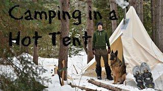 Download Winter Camping in a Canvas Tent with a Dog and a Woodstove. Video