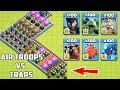 Download Who Can Survive This Difficult Trap on COC? Air Trap VS Air Troops #34 Video
