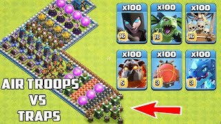 Download Who Can Survive This Difficult Trap on COC? Trap VS Troops #34 Video