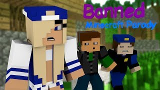 Download ♫ ″Banned″ ♫ - Minecraft Animated Music Parody of Miley Cyrus's ″Wrecking Ball″ Video