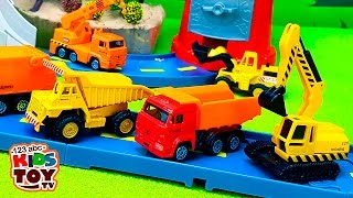 Download Working machines. #Toys : transporter, garbage truck, truck crane, excavator, loader, dump truck. Video