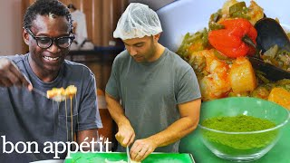 Download Andy Learns How to Cook Senegalese Food | Bon Appétit Video