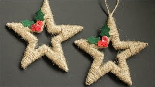 Download Twine Wrapped Christmas Star Ornaments Video