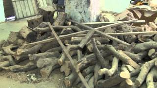 Download Olive Wood Carving at Desert Rose Holy Land Designs in Amman, Jordan Video