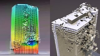 Download Fracture Simulation Case Study of the WTC7 - Blender Fracture Video