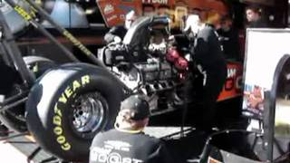 Download *** FUNNY *** Standing next to a 11,000 + Horsepower Nitro burning Top Fuel HEMI engine Video
