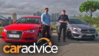 Download Audi A3 sedan v Mercedes-Benz CLA-Class Comparison Video