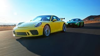 Download Porsche 911 GT3 vs AMG GT R - Head 2 Head Preview Ep. 100 Video