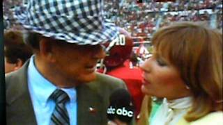 Download Bear Bryant has no time for girl sideline reporter. Video