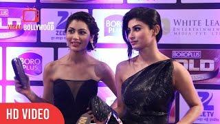 Download Mouni Roy & Sriti Jha (Pragya) at Zee Gold Awards 2016 Video