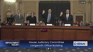 Download House Impeachment Inquiry Hearing – Feldman, Karlan, Gerhardt & Turley Testimony Video