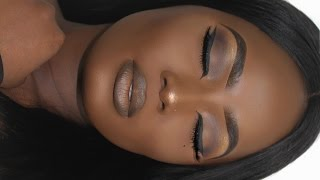 Download NEUTRAL MAKEUP FOR DARKSKIN| WATER AS A SETTING SPRAY??? Video