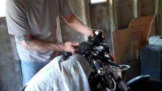 Download Delboy's Garage, XL883 Iron, fitting some Biltwell 'Keystone' Z bars. Video