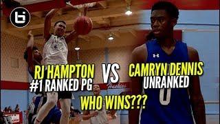 Download UNRANKED PLAYER VS #1 Ranked PG RJ HAMPTON Dope Battle! Elite 14 Ballislife Highlights Video