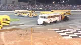 Download School Bus Figure 8 Race 5/24/14 Sportsdrome Speedway Video