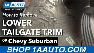 Download How to Remove Install Lower Tailgate Trim 2009 Chevy Suburban Video