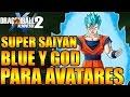 Download Dragon Ball Xenoverse 2 SUPER SAIYAN GOD Y BLUE PARA AVATARES EL MEJOR MOD Video