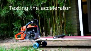 Download Building a chainsaw powered longboard Video
