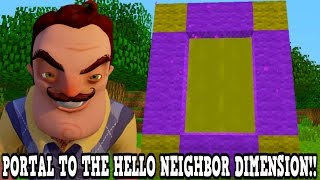 Download Minecraft How To Make A Portal To The Hello Neighbor Dimension - Hello Neighbor Dimension Showcase! Video