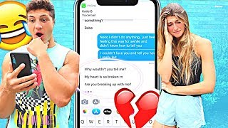 Download BREAKING UP WITH MY GIRLFRIEND THROUGH TEXT PRANK! *SHOCKING* Video
