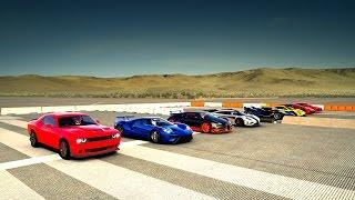 Download World's Greatest Drag Race! One:1, Veyron, P1 GTR, FXXK, Lykan, Ford GT, HELLCAT, Audi R8 - Forza 6 Video