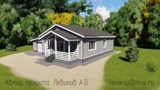 Download Проект одноэтажного дома с тремя спальнями ″Торонто″ из деревянного каркаса с гаражом Video