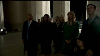 Download Donald Trump And Family Reflecting At The Lincoln Memorial On The Eve Of Inauguration Day Video