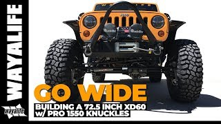 """Download GO WIDE - 72.5"""" Dynatrac XD60 Front Axle / PRO 1550 Steering Knuckles Video"""