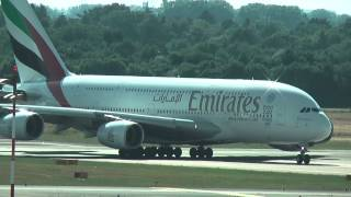 Download Airbus A380 Takeoff at Düsseldorf Airport, 07/01/2015 Video