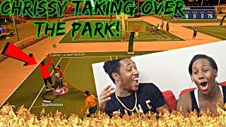 Download CHRISSY TAKING OVER THE PARK! I CANT BELIEVE SHE GIVING THIS DUDES BUCKETS! - NBA 2K17 MyPark Video