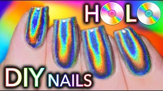 Download 100% PURE HOLO (holographic) NAILS! GEL and NO-GEL POLISH!! Video