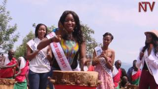 Download Cultural shock as East African beauty queens try beating Burundi traditional drums Video