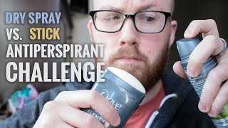Download Dry Spray vs Stick Antiperspirant Challenge - Which Is Best For Excessive Sweating? Video