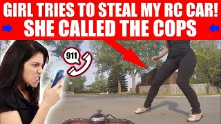 Download WOMAN TRIES TO GRAB ″HENRY THE FPV RC CAR″! Video
