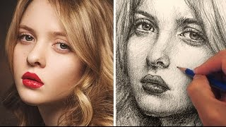 Download How to Draw a Pretty Face with Pencil Video