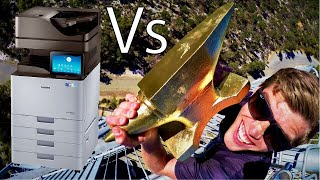 Download ANVIL Vs. GIANT OFFICE PRINTER 45m Drop Test!! Video