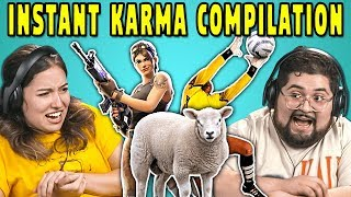 Download College Kids React To INSTANT KARMA Compilation Video