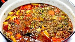 Download Sopa de lentejas para bajar el colesterol, limpiar el colon y perder peso Video