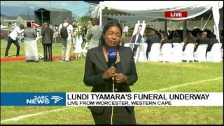 Download Lundi Tyamara's funeral underway Video