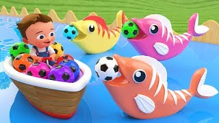Download Little Baby Fun Learning Colors for Children with Soccer Balls Fish Wooden Tumbling Slides 3D Kids Video