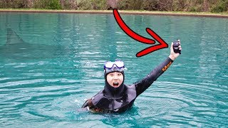 Download FOUND LOST PHONE SCUBA DIVING IN POND!! Video