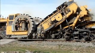 Download Worlds Largest Railway Construction Equipment Modern Technology, Awesome Powerful Railroad Machines Video