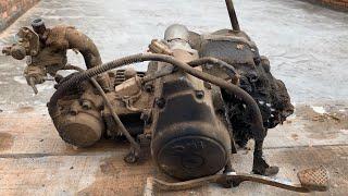Download Engine Restoration of 1990 SYM Angel Hi   Restore Tear Down Old Rusty Motor Video